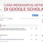 Cara menghapus artikel ilmah di google scholar