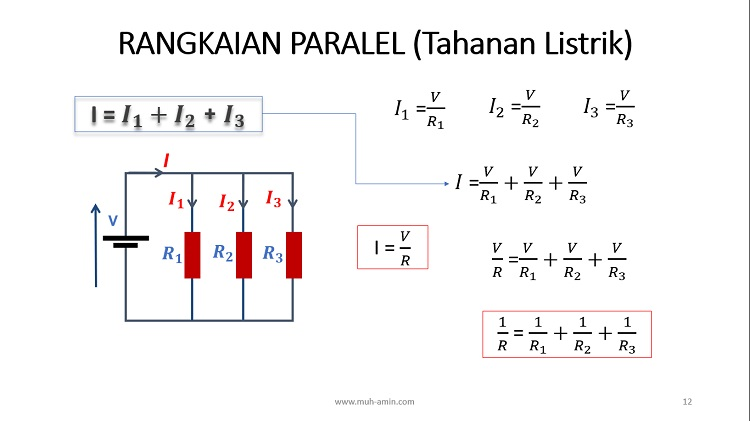 Menghitung Hambatan Ekivalen Rangkaian Paralel