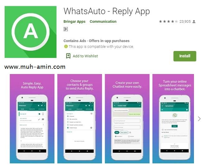 Aplikasi WhatApp Autorespon