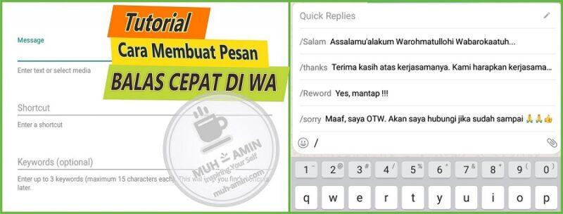 Cara mudah membalas pesan di WA dengan cepat